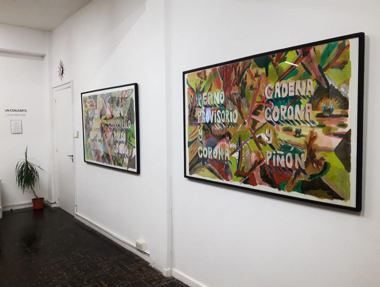 Un conjunto, Montaje de pintura en Púrpura Galería, Santa Fe, 2018