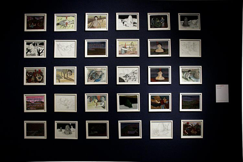 1924 metros, Montaje de dibujos en el marco de la muestra Proyecto Circular, Palais de Glace, Capital Federal, 2011