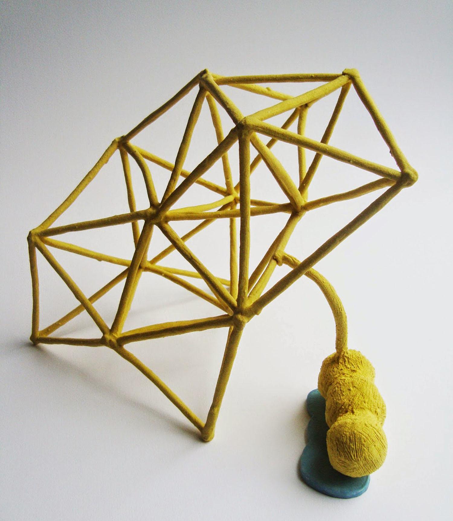 Proyección Celeste, modela do en gres con engobes