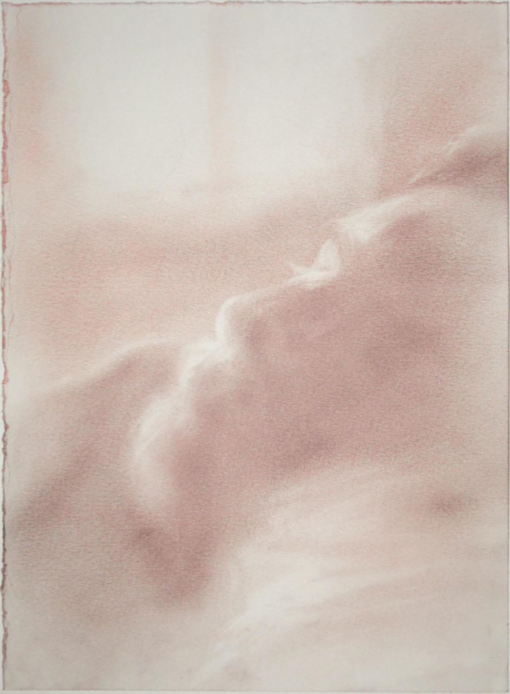 """""""Bello durmiente"""", rubor sobre papel, 38x28cm, 2020"""