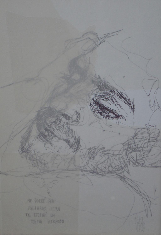 """""""Insomnio"""". Papel vegetal, grafito y tinta sobre papel..23x33cm. 2019"""