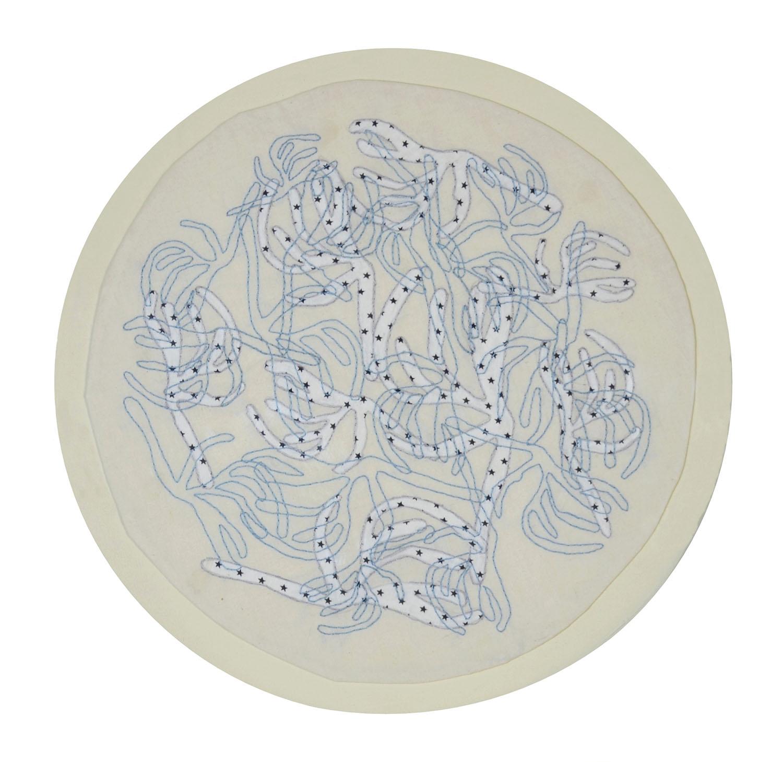 Julia Acosta. ST. 57cm circular. Bordado. 2015