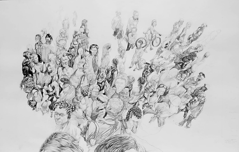Sin título. Grafito sobre papel. 95 x 60 cm. 2019