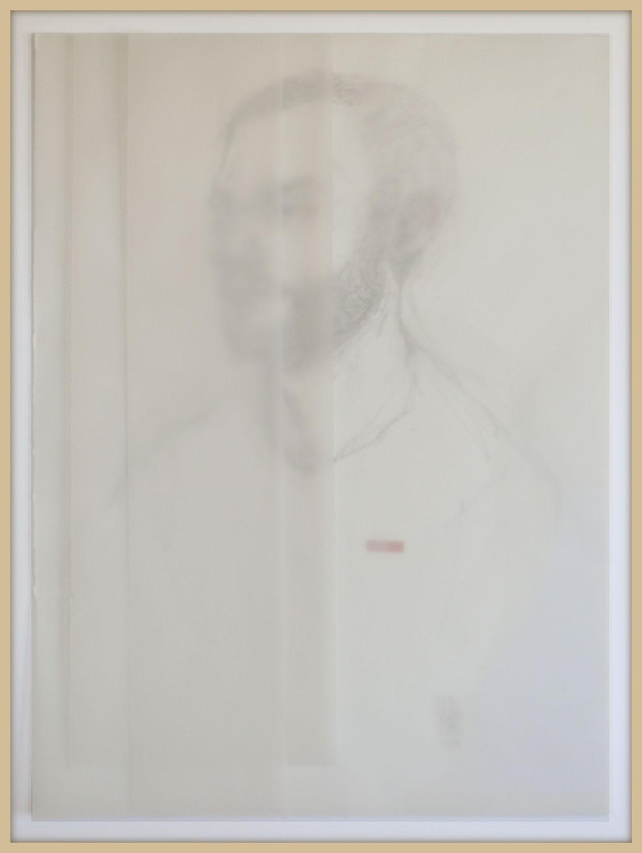 """""""Un mal sueño""""Papel vegetal, grafito y tinta sobre papel. 63x83cm. 2019"""
