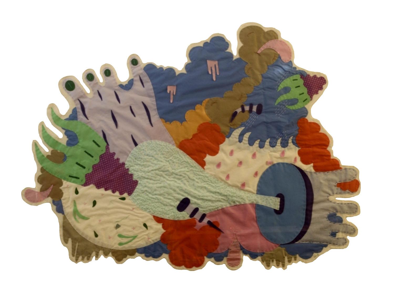 Vapores. collage textil. 150cm x 120cm. 2015