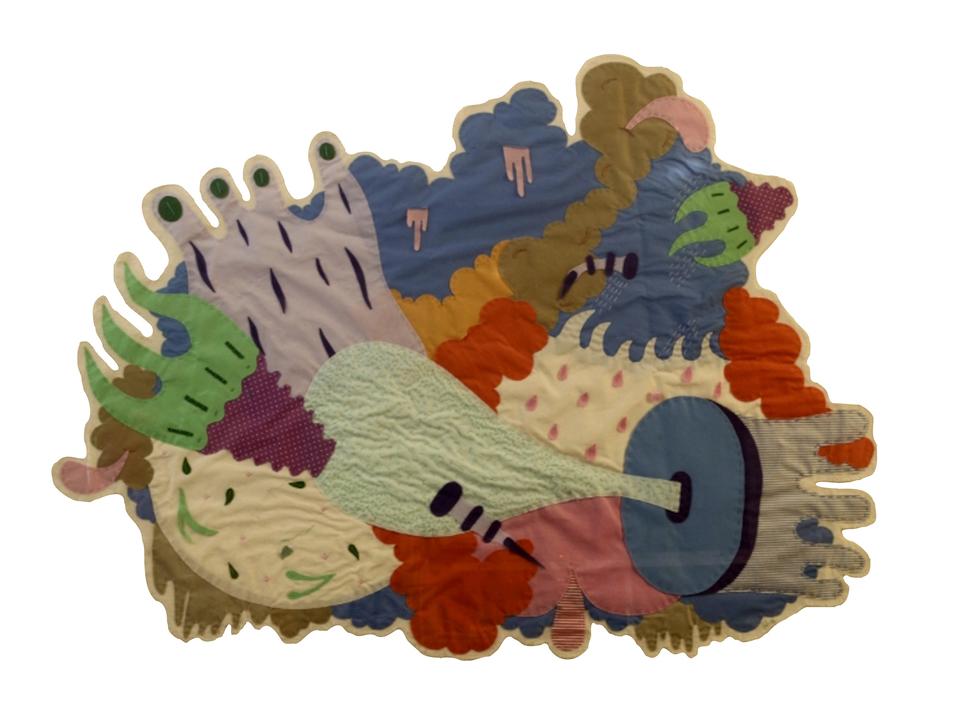 Julia Acosta. Vapores. T: Collage textil M: 150 x 120 cm A: 2014