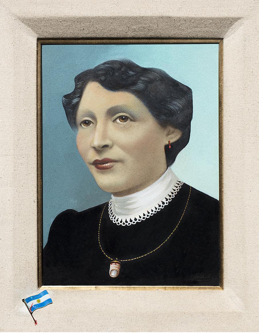 Mildred Burton. T: La madre del torturador. S: La familia del torturador M: mixed media on canvas. 1980 M: 28 x 20 cm.